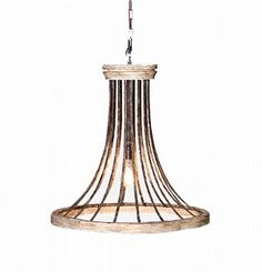 Venus Iron and Wood Ring Chandelier