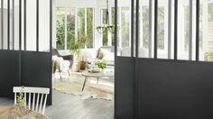 Verrière d'intérieur : les 5 erreurs à éviter Living Room Partition, Dining Area, My Dream Home, Home Appliances, Architecture, Bedroom, Place, Inspiration, Furniture