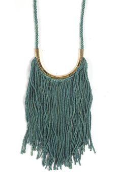 erinconsidine|greens for SS15 / goldenrod + indigo dyed silk noil | brass