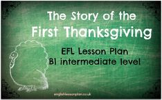Story of First Thanksgiving EFL lesson plan