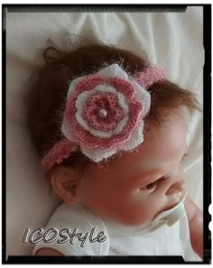 Crochet Baby Headband,Baby Gift, Newborn photography prop. by ICOStyle on Etsy