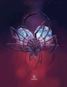 ArtStation - Facehuger, X Yang Predator Alien, Hr Giger, Creature Drawings, Alien Creatures, Alien Art, Art Station, Dark Fantasy Art, Cthulhu, Dark Souls