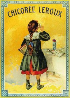affiche vintage de firmin bouisset chicorée leroux à petit ...