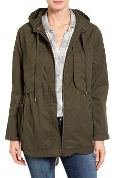 Caslon庐 Hooded Utility Jacket