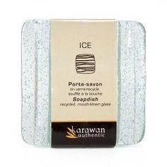 """Porte-savon carré """"Ice"""" Clear"""