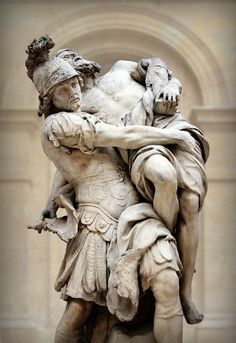 Aeneas Carrying Anchises from Troy. Pierre Lepautre