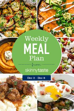 A free flexible weight loss meal plan including breakfast, lunch and dinner and a shopping list. All recipes include calories and WW Points. Skinny Taste, Healthy Snacks, Healthy Eating, Healthy Recipes, Delicious Recipes, White Bean Turkey Chili, Parmesan Green Beans, Clean Eating, Planning Budget