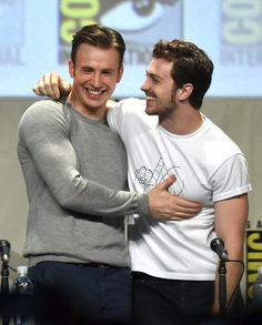Aaron Taylor-Johnson and Chris Evans