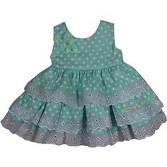 Cegonha Feliz Roupas Bebê Menina : Vestido Poá para bebê - Plinc Ploc