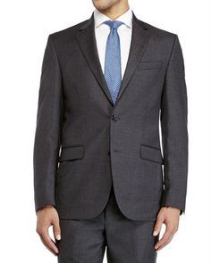 Kenneth Cole New York Slim-Fit Charcoal Suit