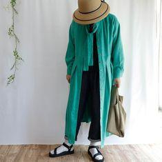 ボウタイカラーのロングシャツドレス羽織りものとしても活躍しそうです Kimono Top, Boutique, Instagram, Tops, Women, Fashion, Moda, Fashion Styles, Fashion Illustrations