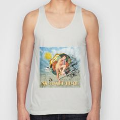 Retro Summertime Unisex Tank Top by Dotiee - $22.00