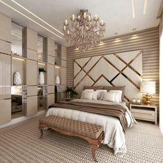 Modern Luxury Bedroom, Master Bedroom Interior, Luxury Bedroom Design, Modern Master Bedroom, Room Design Bedroom, Bedroom Furniture Design, Home Room Design, Luxurious Bedrooms, Home Decor Bedroom