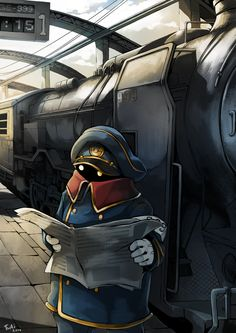 Galaxy Express 999 - Conductor by Twai (fanart)