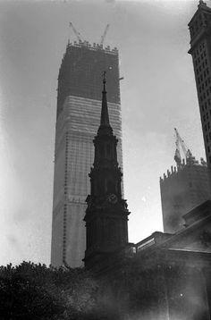 Construcción  del World Trade Center New York, 1971