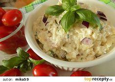 Mozzarellová pomazánka s bazalkou recept - TopRecepty.cz Mozzarella, Potato Salad, Cooking Recipes, Potatoes, Ethnic Recipes, Food, Eten, Potato