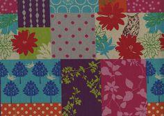 Kokka Fabrics Echino Pink Forest