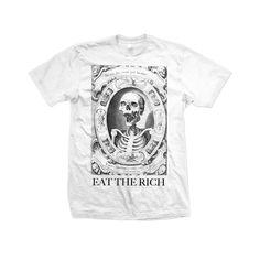"""Unisex Cotton T Shirt - """"Eat The Rich"""" White"""