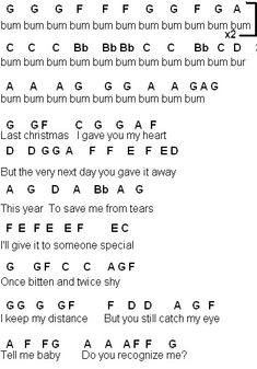 piano music Flute Sheet Music: Last Christmas (Glee) Flute Sheet Music: Last Christmas (Glee) Piano Sheet Music Letters, Clarinet Sheet Music, Music Chords, Piano Music Notes, Violin Music, Music Music, Saxophone, Piano Songs For Beginners, Beginner Piano Music