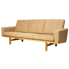 Hans Wegner GE-236 Sofa | From a unique collection of antique and modern sofas at https://www.1stdibs.com/furniture/seating/sofas/