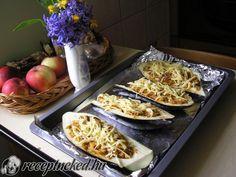 Vargányás töltött padlizsán Tacos, Mexican, Meat, Chicken, Ethnic Recipes, Food, Essen, Meals, Yemek