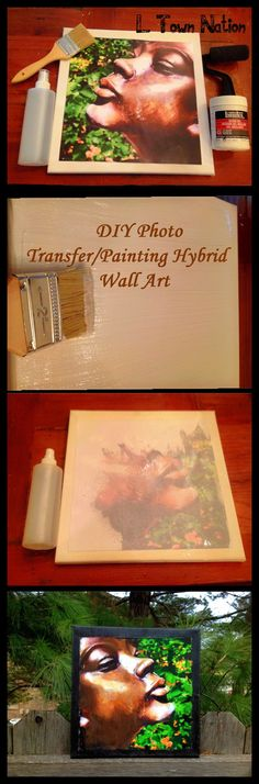 How to Turn any Photo into a Painted Canvas. I love this for a Valentine's Day Gift! Valentine Day Gifts, Valentines, Diy And Crafts, Arts And Crafts, Do It Yourself Projects, Diy Photo, Craft Projects, Craft Ideas, Jewelry Making