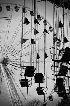Black and white Photography Inspiration: Take Wonderful Pictures In A Theme Park Amuse by Konstantinos B
