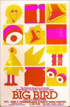 big bird poster by warymeyers blog, via Flickr