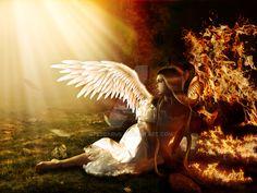 Falling  Angel  On Fire by spescarus