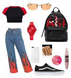 """""""Day out"""" by gaby1501 on Polyvore featuring Gucci, Chiara Ferragni, Vans, Maybelline and Tommy Hilfiger"""