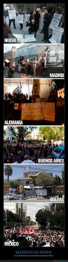 MANIFESTACIONES - Por la desaparición de 43 estudiantes en Ayotzinapa, México