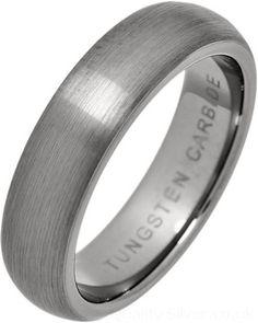 Ladies Brushed Tungsten Carbide 5mm Court Ring