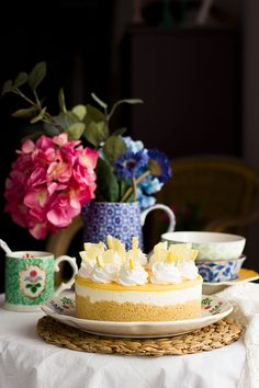 No-Bake Lemon, Coconut and White Chocolate Tart Pineapple Cake, Chocolate Muffins, Lemon Lime, Cheesecakes, Yummy Cakes, White Chocolate, Sweet Recipes, Fondant, Sweets