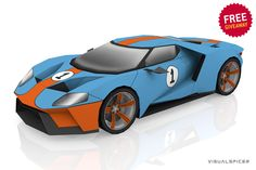 Paper Car, Arts And Crafts, Paper Crafts, Ford Gt, Paper Models, Hot Wheels, Kirigami, Giveaway, Scale