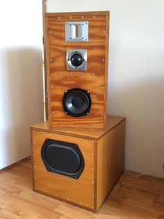 Four way, closed enclosure based on KEF-139b woofer.