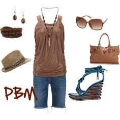 Brown, created by PBMax on Polyvore