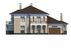Проект «Шербон» - Вид спереди Mansions, House Styles, Design, Home Decor, Decoration Home, Manor Houses, Room Decor, Villas