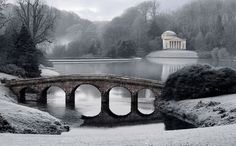 Stourhead Gardens Wiltshire in South West England Winter Garden, Winter Scenes, Photos, Pictures, Great Britain, Countryside, The Good Place, Scenery, Images