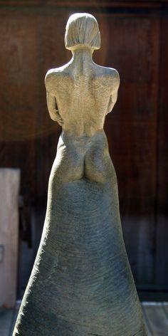 'Force' from Whyte's Stance Series, rear view. Bronze Figurative sculpture by sculptor Steven Whyte, Carmel, California. Www.facebook.com/stevenwhytecarmel
