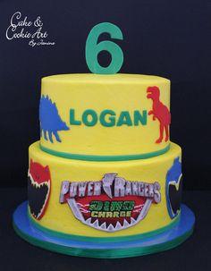 Dino Chargers Dinosaur theme cake