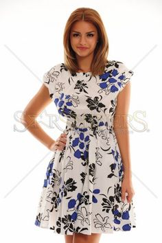 Unbridle Contrast Blue Dress