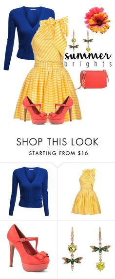 """""""summer brights"""" by sassiesavy ❤ liked on Polyvore featuring Doublju, Lena Hoschek, Betsey Johnson, Opening Ceremony and summerbrights"""