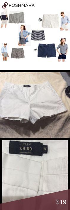 J. Crew White Chino Shorts New j.Crew white Chino shorts. Size 10. 2 pockets front and back. Cotton J. Crew Shorts