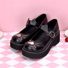Lolita Femme Bout Rond Gilrs Bride Cheville Plat Mary janes casual School Shoes SZ