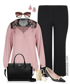 Add a little romance to your work wardrobe with this plus size lace detail blouse.  Pair with some black trousers.  I think everyone should have a great pair of black trousers.  My favorite plus size trousers are from Torrid.  They have the perfect weight for all season wear, the perfect amount of stretch for fit… Read More