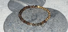 Andalusite Beaded Bracelet with Gold Beads by alaskanstardust, $80.00