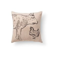 "Pioneer Cow Burlap Throw Pillow (20""x20"") - Beekman 1802 FarmHouse™ :... via Polyvore featuring home, home decor, throw pillows, cow home decor, target throw pillows, burlap throw pillows, beekman 1802 and burlap home decor"