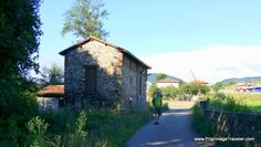 The Way to Casazorrina by an old mill on Day Three of our Camino Primito, on the stage to Salas in Asturias, Spain.