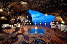 Oh, how I want to eat here! Grotto restaurant in Italy