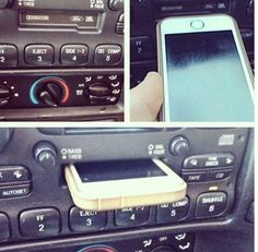Young driver with old car stopped by dealership to complain that the iPhone dock isn't working & scratching his phone....